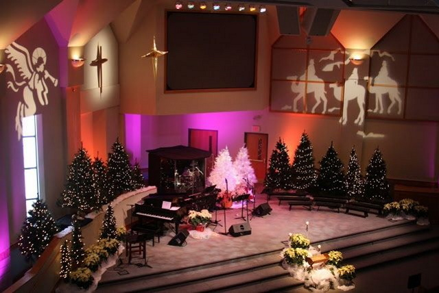 christmas light decorations install for churches texas